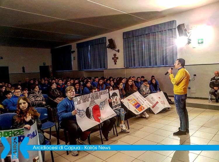 Educazione allaLegalità, con gli alunni dell'Istituto comprensivo Mazzocchi per il primo incontro della seconda annualità del progetto